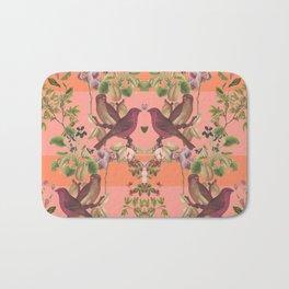 Vintage Botanic (Pink) Bath Mat