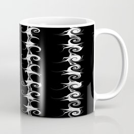 Alternative Gothic Black and White Linear Pattern Coffee Mug