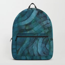 'Careful Where You Stand, In Aquamarin' Backpack
