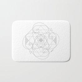 Fibonacci Geometric Mandala Bath Mat