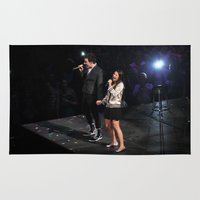 glee Area & Throw Rugs featuring Glee Concert: Lea Michele and Chris Colfer by Jackie Lalumandier