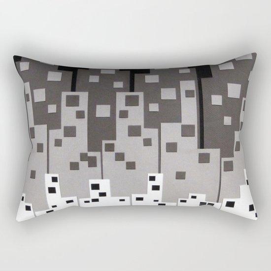 City at Night Rectangular Pillow