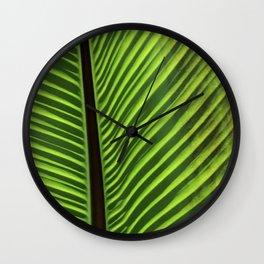 Fine Art Elegant Leaf Close-Up Photo Wall Clock