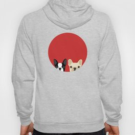 Boston Terrier & Cream French Bulldog RED Hoody
