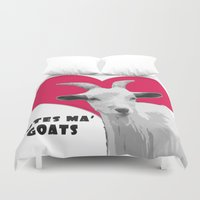 totes Duvet Covers featuring Totes Ma Goats - Red by BACK to THE ROOTS