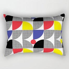 Textured Mid-century Circles No.1 Rectangular Pillow