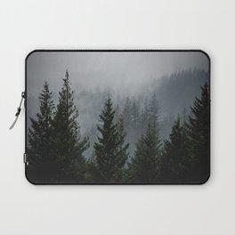 Wanderlust Forest III - Mountain Adventure in Foggy Woods Laptop Sleeve