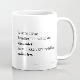 Poesikopp / STILLHET / @skrivelisa Coffee Mug