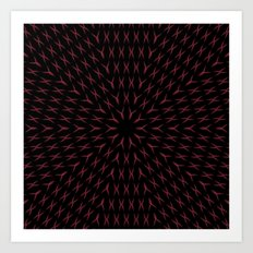 PCT2 Fractal in Red and Black Art Print