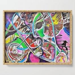 Colorful Abstract 2 Serving Tray