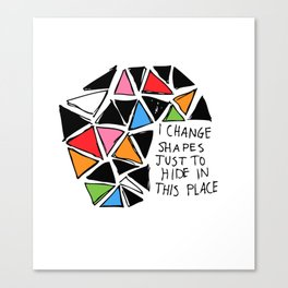 Colored Shapes Canvas Print