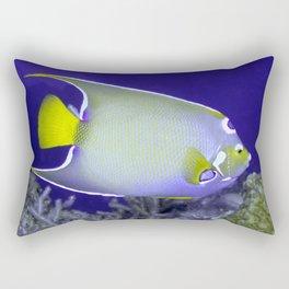 Queen Angelfish From Side Rectangular Pillow