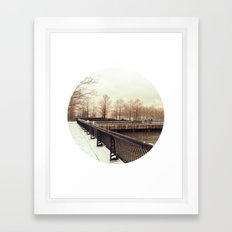 Along the Waterfront - Hoboken, NJ Framed Art Print