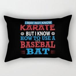 I Love Baseball Rectangular Pillow