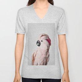 Pink Cockatoo Unisex V-Neck