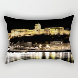 Budapest Chain Bridge And Castle Art Rectangular Pillow