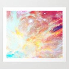 Fire phoenix Art Print