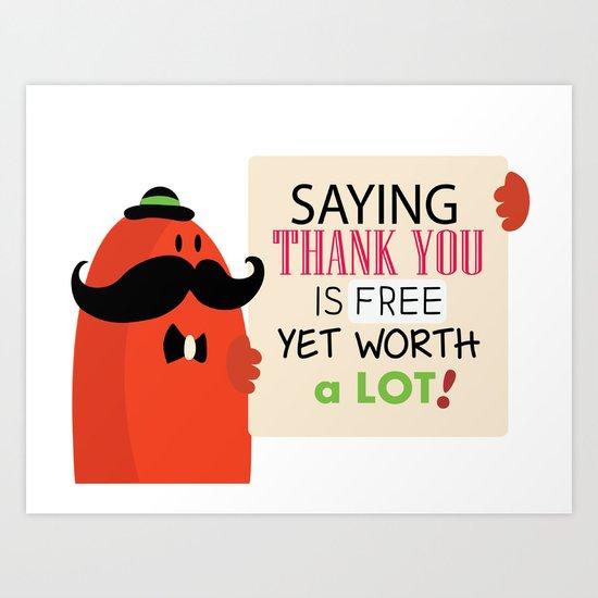 Saying thank you Art Print