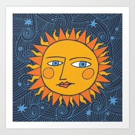 Cosmic Weels Art Print