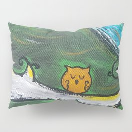 Owl Sleeps In Pillow Sham