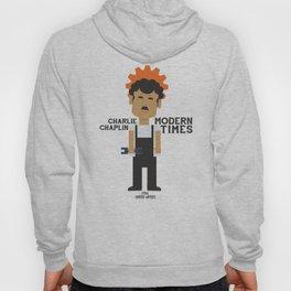 Charlie Chaplin, Modern Times, minimal movie poster Hoody