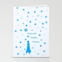 snowman Stationery Cards featuring Snowman by BlackBlizzard