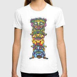 Three wise gods totem T-shirt