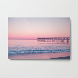 Pink Beach Sunset Metal Print