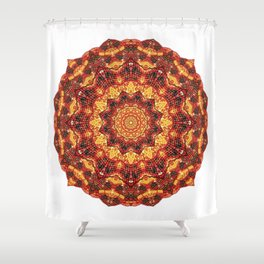 Kaleidoscope warm colors Shower Curtain