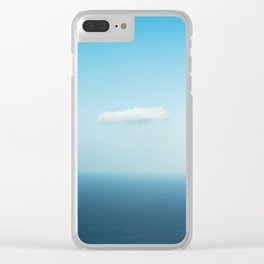 Solitary Cloud over Ocean Clear iPhone Case