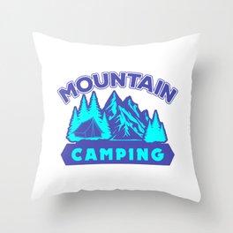 Mountain Camping pb Throw Pillow