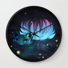 Lily Lurker Wall Clock