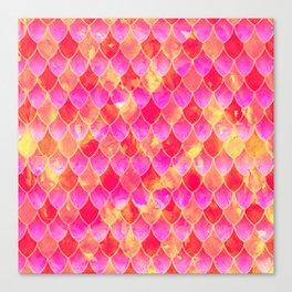 Squama Fish Pattern Flowe-of-Life Canvas Print
