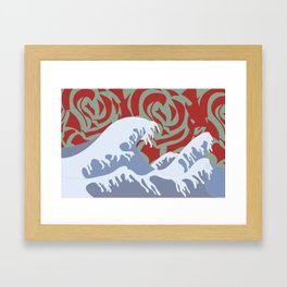 Wavy Baby Framed Art Print