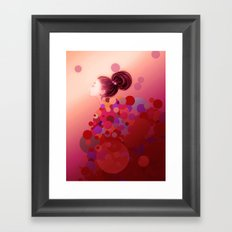 Pink○●◎ Framed Art Print