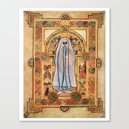 """""""Ghost of Christ Enthroned"""" from The Book of Kells Canvas Print"""