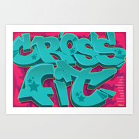 crossfit Art Prints featuring Crossfit Poster - Crossfit by Blur 116th
