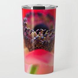 Red Anemone Travel Mug