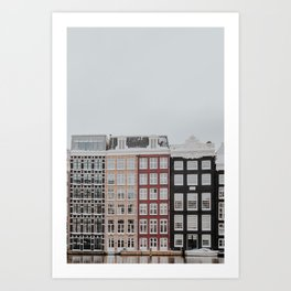 "Amsterdam Canal Houses | Fine art photo print from the ""Amsterdam during winter"" series, Art Print"