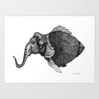 FANTASY ZOO Art Print