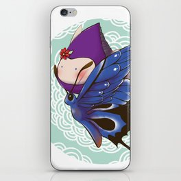 Poppette and butterfly iPhone Skin