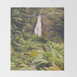 Jungle Waterfall III Throw Blanket