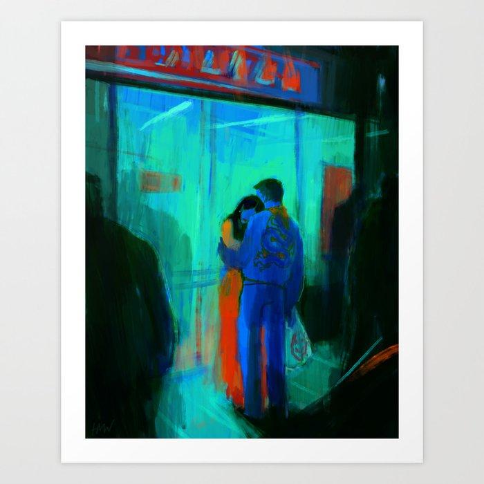 Happy Shoppers Kunstdrucke