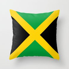 Flag of Jamaica Throw Pillow