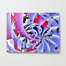 Winter Cartwheel - Digital Art piece Metal Print