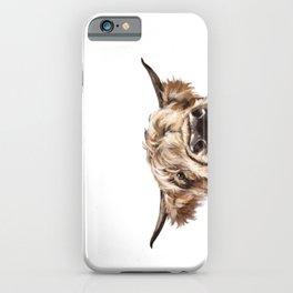 Peeking Highland Cow iPhone Case