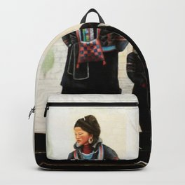 Hmong women at Bus Stop Backpack