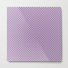 Dewberry and White Polka Dots Metal Print