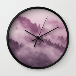 Purple Haze in the Smokey Mountains Wall Clock