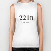 221b Biker Tanks featuring No. 6. 221B by F. C. Brooks